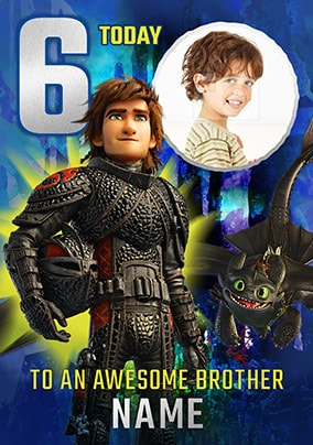 6 Today - How To Train Your Dragon Personalised Card