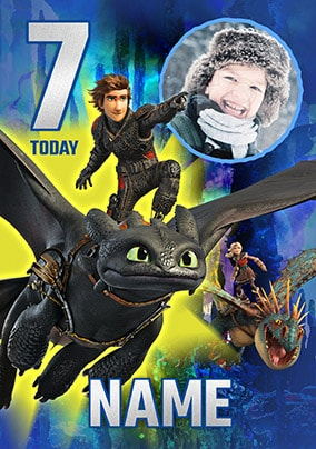 7 Today - How To Train Your Dragon Personalised Card