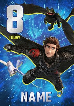 8 Today - How To Train Your Dragon Personalised Card