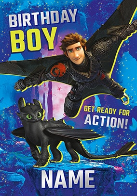 Birthday Boy - How To Train Your Dragon Personalised Card