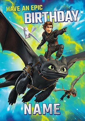 Epic Birthday - How To Train Your Dragon Personalised Card
