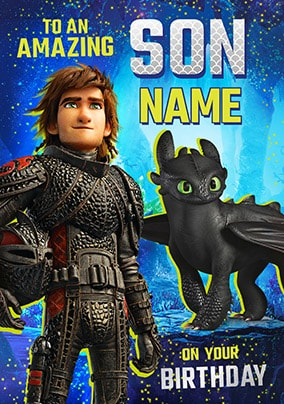 Son - How To Train Your Dragon Personalised Card