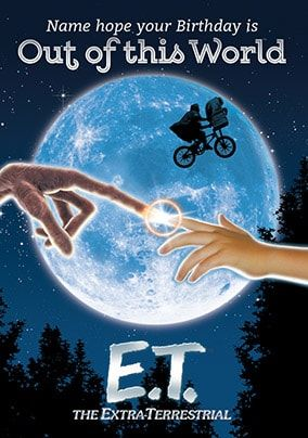 E.T. Out Of This World Personalised Birthday Card