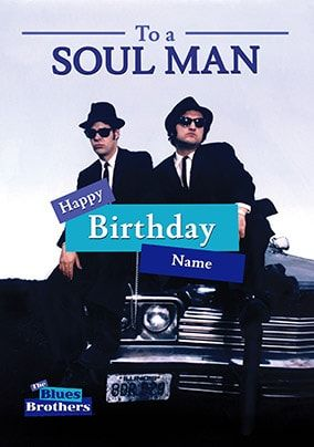 Blues Brothers Personalised Card