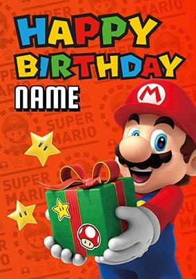 Mario Birthday Cards   Funky Pigeon
