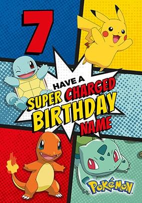 Pokemon 7th Birthday Personalised Card