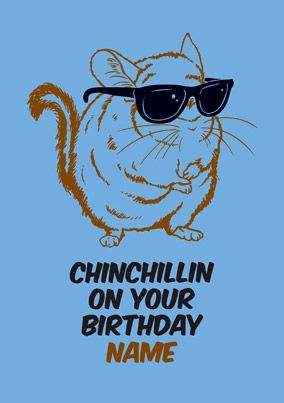 Chinchilla Birthday Card - Chinchillin