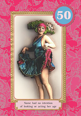 Retro Dancer Milestone 50th Birthday Card