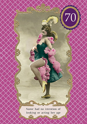 Dancing Belle Milestone 70th Birthday Card