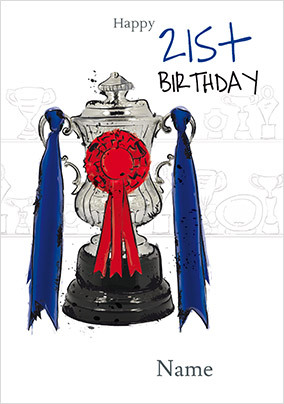 Winning Cup 21st Birthday Card NO Preview Image Is Not Found