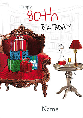 Relaxing 80th Birthday Card NO Preview Image Is Not Found