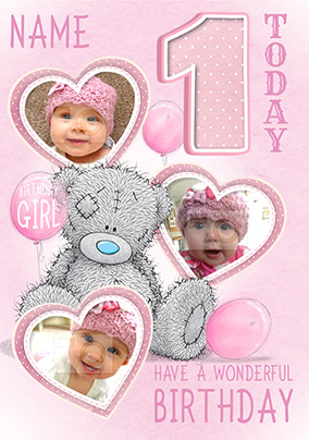 Me To You - Multi Photo Upload 1st Birthday Card Girl