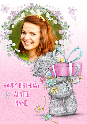 Happy Birthday Auntie Me To You Photo Card