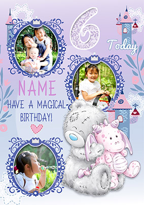 6 Today Magical Birthday Multi Photo Card