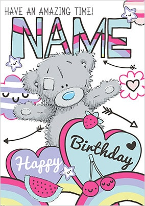 Amazing Time Me To You Personalised Birthday Card