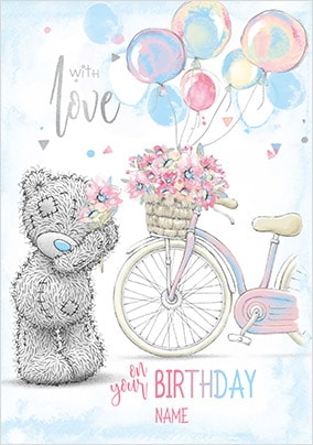 Me To You - With Love Personalised Birthday Card