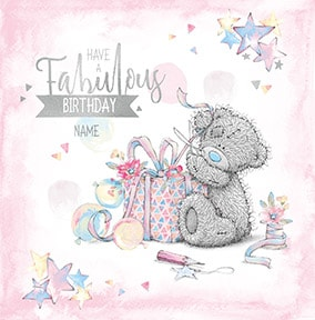 Me To You - Fabulous Birthday Personalised Card