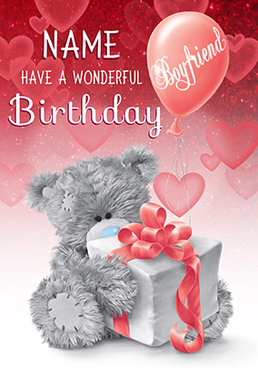 Boyfriend Wonderful Birthday Me To You Personalised Card