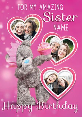 Me To You Amazing Sister Multi Photo Upload Birthday Card