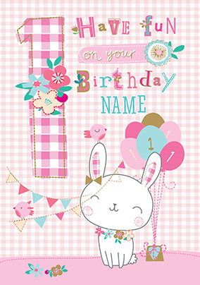 1st Birthday Fun Personalised Card