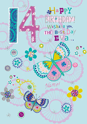 14th Birthday Personalised Card