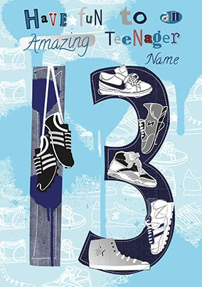 13 Amazing Teenager Personalised Card