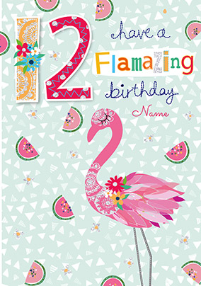 12 Flamazing Birthday Personalised Card