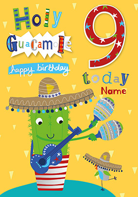 9 Today Holy Guacamole Personalised Card