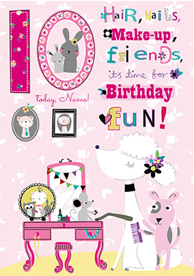 10th Birthday Fun Personalised Card