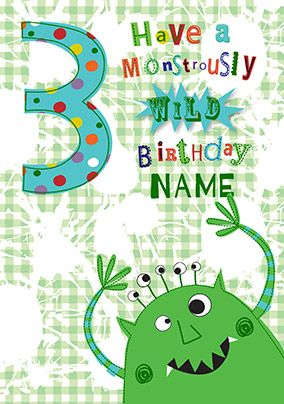 3rd Birthday Monstrously Wild Card