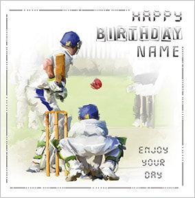 Cricket Personalised Birthday Card