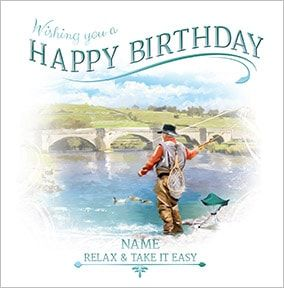 Fishing Personalised Birthday Card