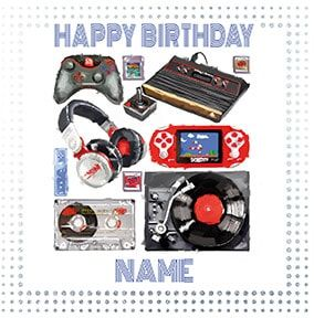 Gamer Personalised Birthday Card
