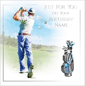 Golfing Personalised Birthday Card
