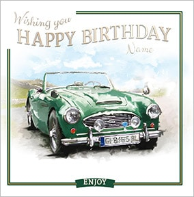 Classic Car Personalised Birthday Card