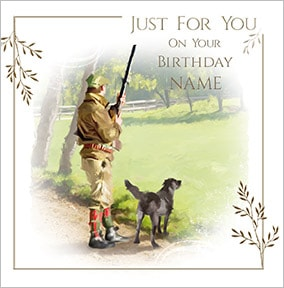Hunting Personalised Birthday Card