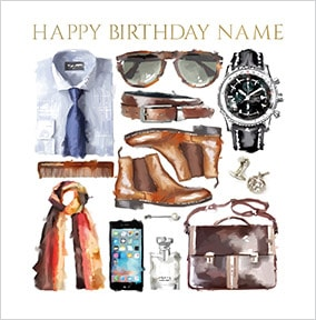Business Accessories Personalised Birthday Card