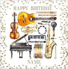 Musician Personalised Birthday Card