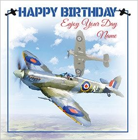 In Flight Personalised Birthday Card