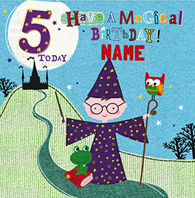 5 Today Magical Birthday Personalised Card