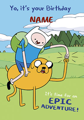 Finn & Jake Epic Birthday Card - Adventure Time