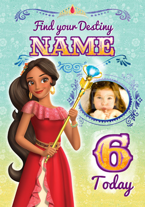 Elena Of Avalor Age 6 Birthday Card