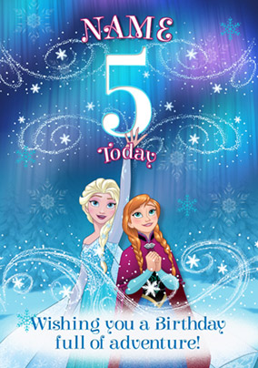 Disney's Frozen Birthday Card - Elsa & Anna 5 Today