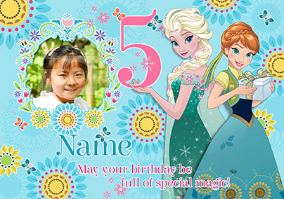 Disney's Frozen Birthday Card - Special 5th Birthday Photo Upload
