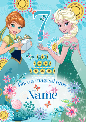 Disney's Frozen Birthday Card - Magical 7th Birthday