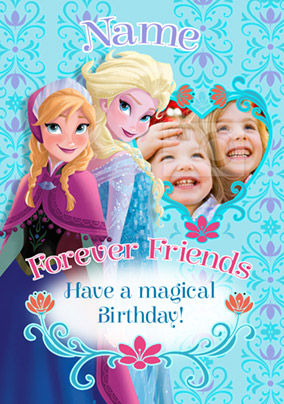 Disney's Frozen Birthday Card - Forever Friends Photo Upload