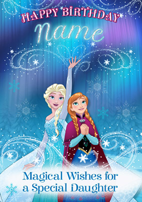 Disney's Frozen Birthday Card - Special Daughter
