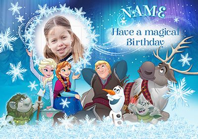 Disney's Frozen Birthday Card - Magical Birthday Photo Upload