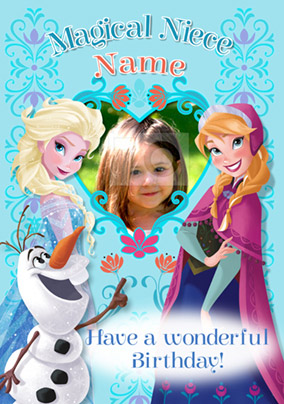 Disney's Frozen Birthday Card - Magical Niece Photo Upload