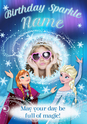 Disney Frozen Sparkle Birthday Card
